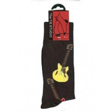 Chaussettes motif guitare