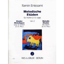 ENTEZAMI - Etudes violon - Vol 2