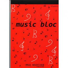 Cahier de musique  - Bloc
