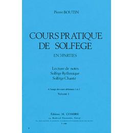 Boutin - Cours pratique de solfège - Vol 1