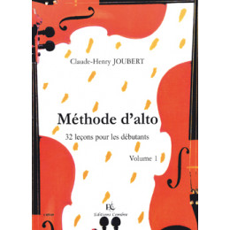 JOUBERT - Méthode d'alto - Vol 1
