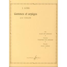 LOEB - Gammes et apèges cello
