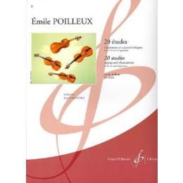 POILLEUX - 20 études chantantes...Violon
