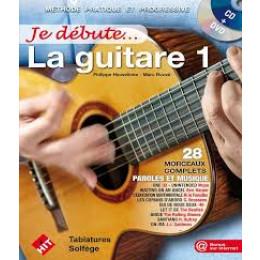 JE DEBUTE LA GUITARE VOL  1 + CD ET DVD