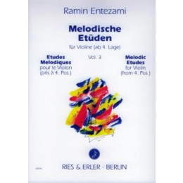 ENTEZAMI - Etudes violon - Vol 3