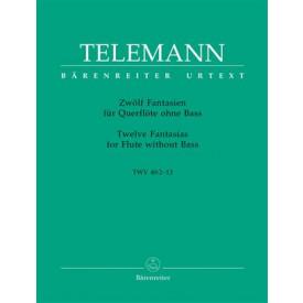 TELEMANN - 12 fantaisies pour flute