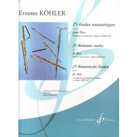 KOHLER - 25 études romantiques - Flûte