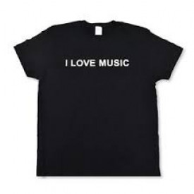 "T-SHIRT "" I L0VE MUSIC """